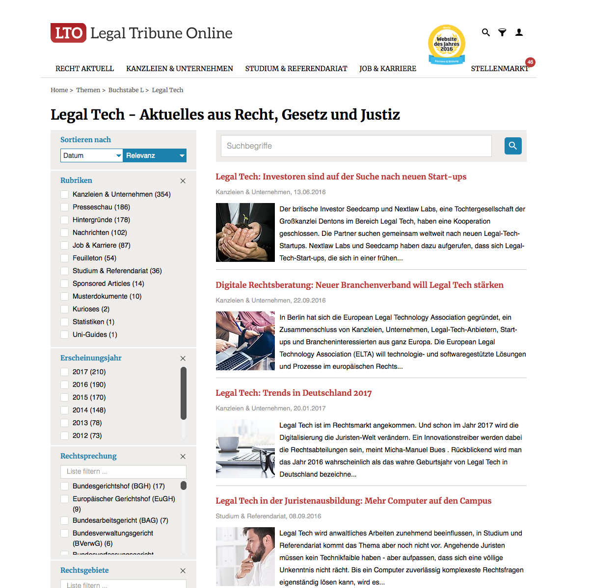 LTO Legal Tech News