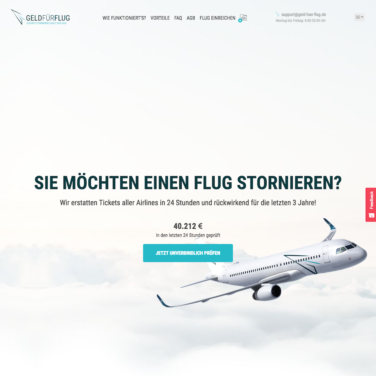 Geld-für-Flug