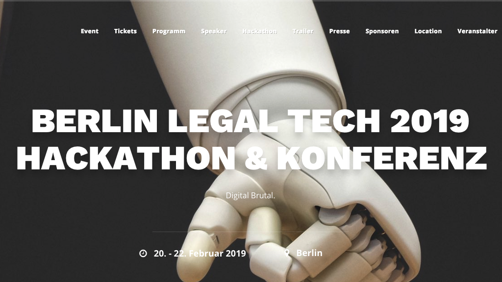 Berlin Legal Tech Konferenz 2019