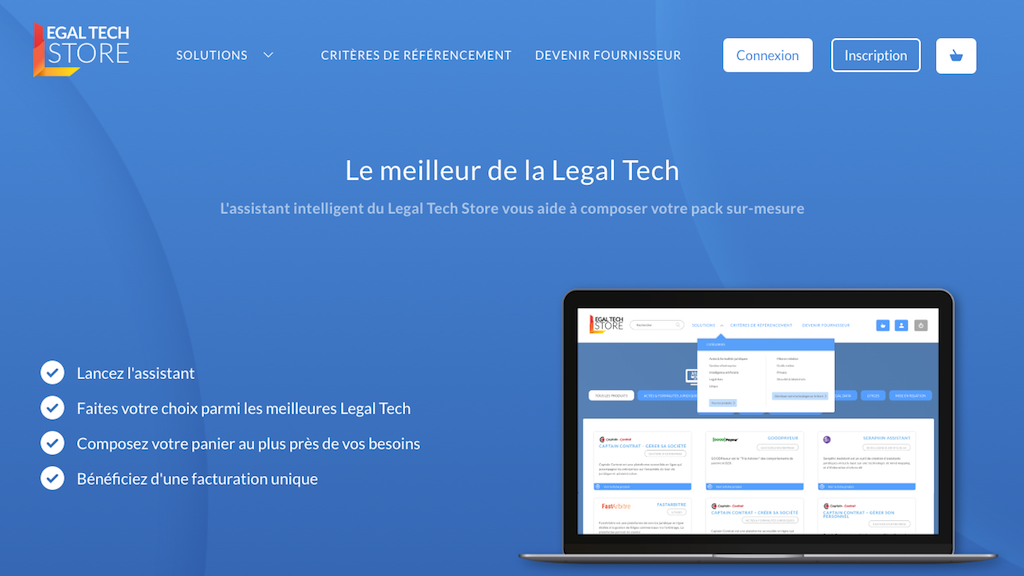 Legal Tech App Store Frankreich