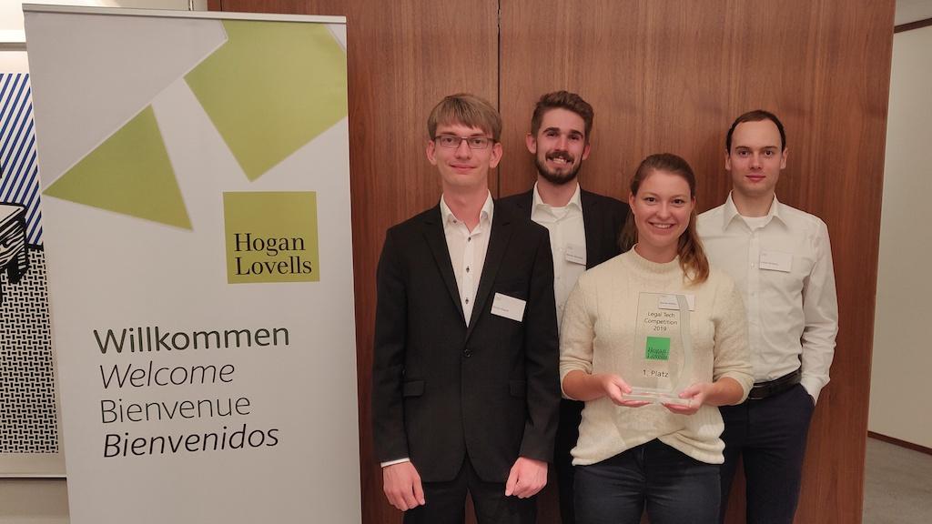 Siegerteam Hogan Lovells Legal Tech Comptetition 2019