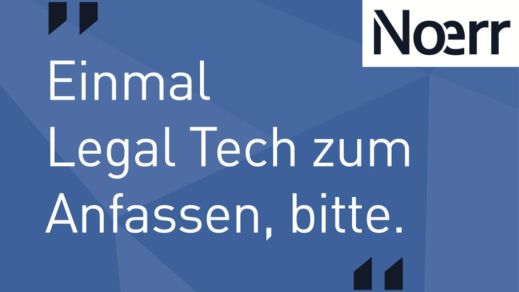 Noerr Legal Tech