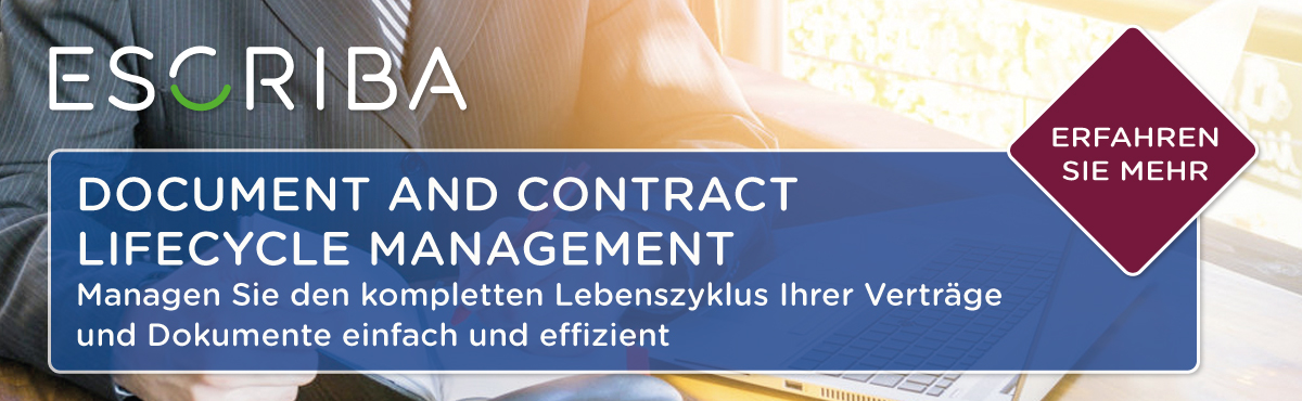 ESCRIBA Document and Contract Lifecycle Management (DCLM)