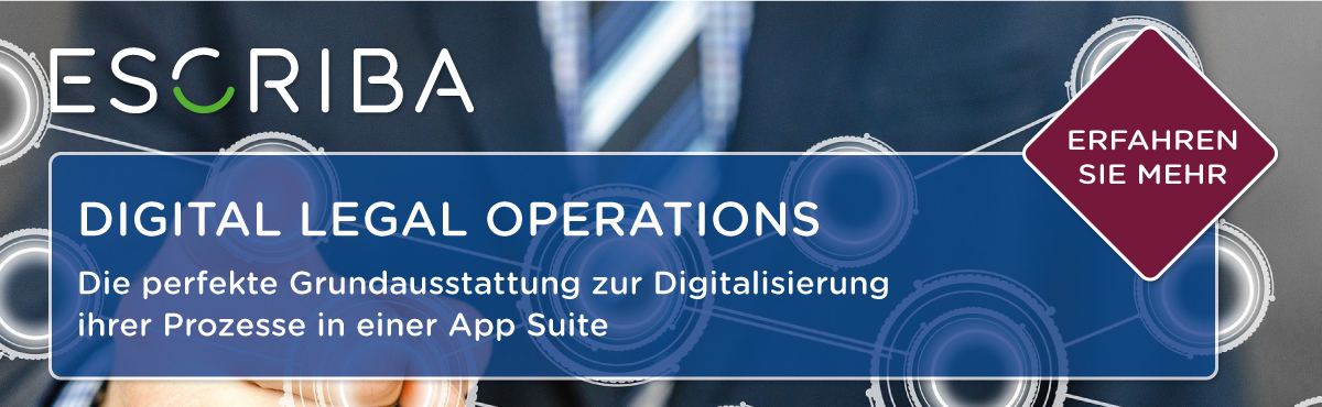 Die App Suite ESCRIBA Digital Legal Operations